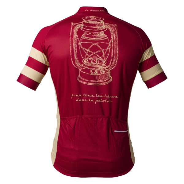 La Lanterne Rouge retro cycling shirt achterkant