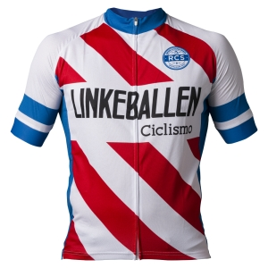 Linkeballen Retro Cycling Shirts voorkant