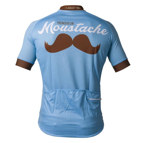Monsieur Moustache Retro Cycling Shirt achterkant